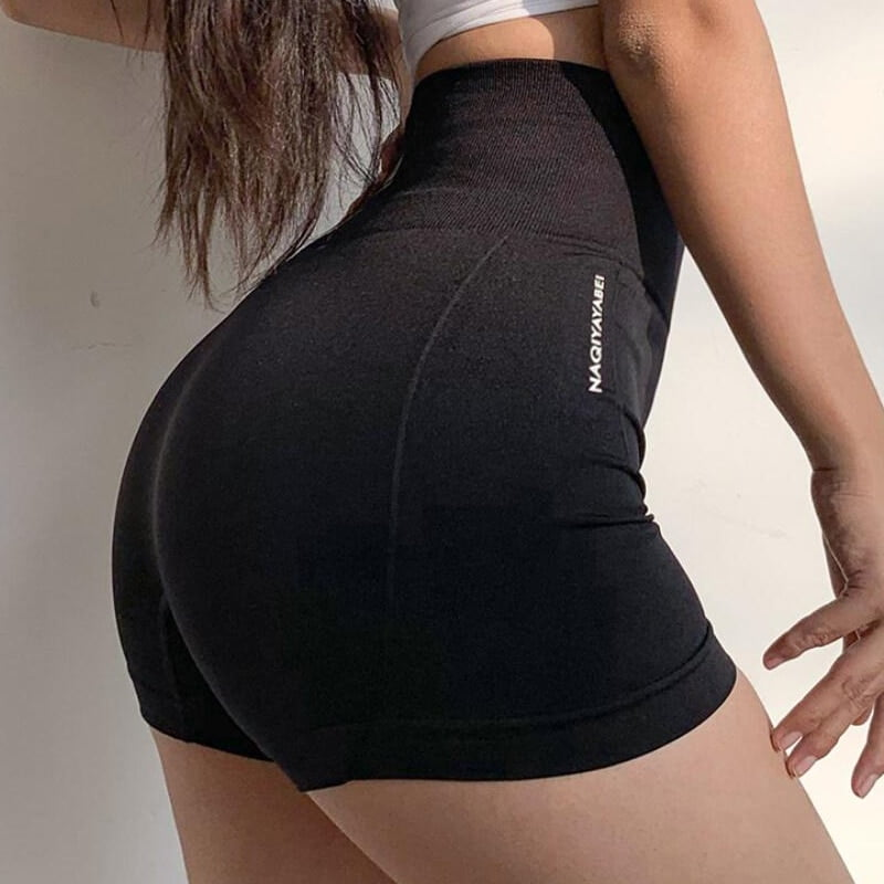 Push Up Fitness Jogger Shorts, Women High Waist Solid Sport, Gym Athletic Shorts Sport9s